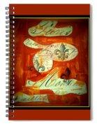 Paris Fleur De Li Spiral Notebook