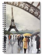 Paris Fog Spiral Notebook