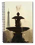 Paris Fountain In Sepia Spiral Notebook