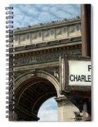 Paris France. Larc De Triomphe On Place Charles De Gaulle Spiral Notebook