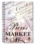 Paris French Script Wall Decor - French Script Letters Typography - Paris French Script Wall Decor Spiral Notebook