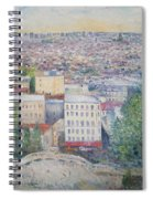 Paris From The Basilique Du Sacre Coeur Montmartre France 2003  Spiral Notebook