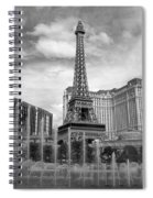 Paris Hotel - Las Vegas B-w Spiral Notebook