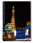 Paris Hotel At Night Spiral Notebook