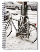 Paris In Snow Spiral Notebook