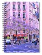 Paris Intersection Spiral Notebook
