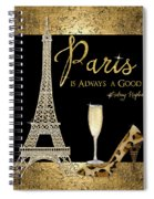 Paris Is Always A Good Idea - Audrey Hepburn Spiral Notebook