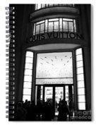 Paris Louis Vuitton Boutique - Louis Vuitton Paris Black And White Art Deco Spiral Notebook
