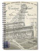 Paris Love Chocolate Wine Spiral Notebook