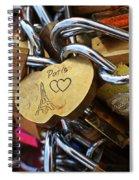 Paris Love Locks Paris France Color Spiral Notebook