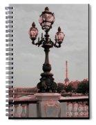 Paris Luminaires And Eiffel Tower Spiral Notebook