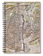 Paris Map, 1581 Spiral Notebook