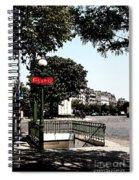 Paris Metro Spiral Notebook