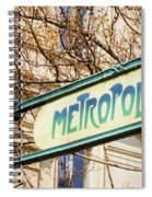 Paris Metro Sign Color Spiral Notebook