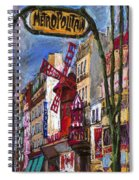 Paris Mulen Rouge Spiral Notebook