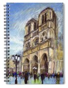 Paris Notre-dame De Paris Spiral Notebook