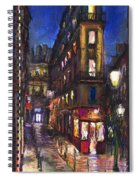 Paris Old Street Spiral Notebook