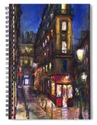 Paris Old Street Spiral Notebook