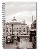 Paris Opera 1935 Sepia Spiral Notebook