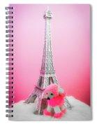 Paris Poodle Spiral Notebook