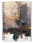Paris, Porte Saint Denis In Winter Spiral Notebook