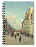 Paris Quai De Bercy Snow Effect Spiral Notebook