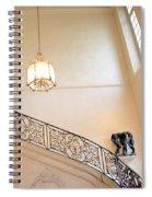 Paris Rodin Museum Staircase - Rod Iron Black Staircase Archictecture - Paris Museum Staircase Print Spiral Notebook