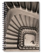 Paris Staircase - Sepia Spiral Notebook