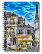 Paris Street Abstract 3 Spiral Notebook