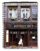 Paris Street Life 2 Spiral Notebook