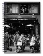 Paris Street Life 4b Spiral Notebook