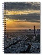 Paris Sunset Spiral Notebook