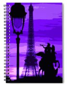 Paris Tour Eiffel Violet Spiral Notebook