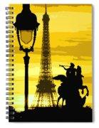 Paris Tour Eiffel Yellow Spiral Notebook