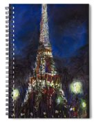Paris Tour Eiffel Spiral Notebook
