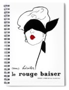Paris Vintage Fashion Spiral Notebook