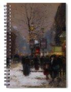 Paris Winter Scene Spiral Notebook