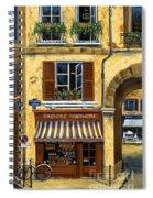 Parisian Bistro And Butcher Shop Spiral Notebook