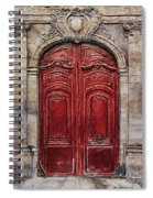 Parisian Door No.49 Spiral Notebook