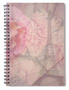 Parisian Romantic Collage Spiral Notebook
