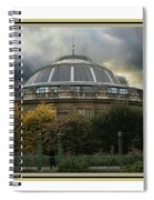 Parisian Spaceship Spiral Notebook