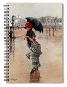 Parisienne On A Rainy Day Spiral Notebook