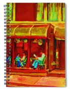 Park Avenue Montreal Cafe Scene Spiral Notebook