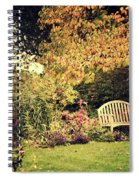 Park Bench, Fall Spiral Notebook