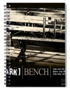 Park Bench Spiral Notebook