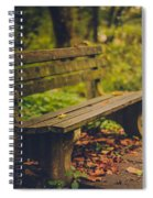 Park Bench Spiral Notebook