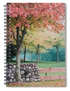 Park In Autumn/fall Colors Spiral Notebook