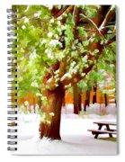 Park In Winter Spiral Notebook