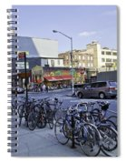 Parked Bikes In Dumbo Spiral Notebook