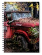 Parked On A Country Road Oil Painting Spiral Notebook